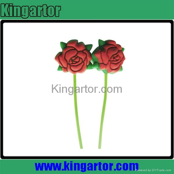 2013 newest rose shaped silicone earphone with customized design 1