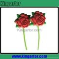 2013 newest rose shaped silicone earphone with customized design 2