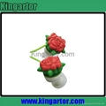 2013 newest rose shaped silicone earphone with customized design 5