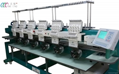 Multi-purpose 6 heads Cap and shirt embroidery machine with 9 needles