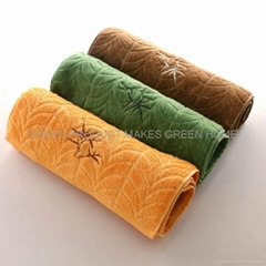 Top quality antibacterial jacquard bamboo hand towels