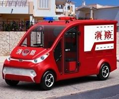 Electric fire fighting truck fire fighter ECARMAS