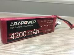 New AGA 4200/25C-4S lipo for rc heli