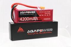 AGA 6S 40C 4200mAh RC heli lipo battery
