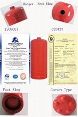 China manufacturer 6kg CE dry powder fire extinguisher cylinder