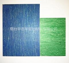 煙台仙閣無石棉芳綸纖維耐油橡膠板藍色