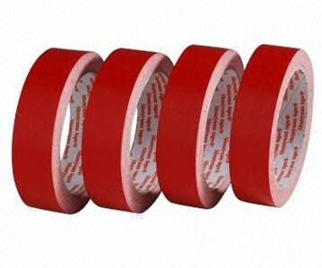 Red Double-sided Tape with Crepe Paper    1