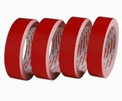 Red Double-sided Tape with Crepe Paper