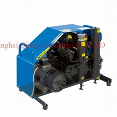 High pressure air compressor for breathing apparatus