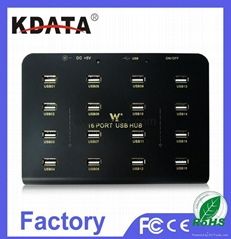 DISPLAY 16 PORT USB HUB