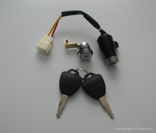 電動三輪車電門鎖 鎖具 1