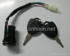 童车电门锁儿童电动滑板车电源锁