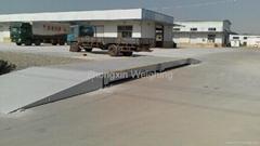 Truck scale for medium-sized trucks