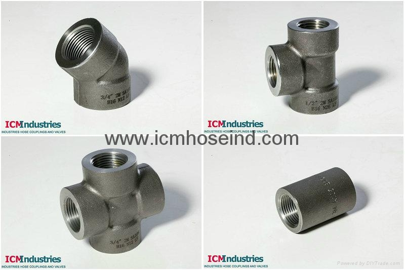 A forged carbon steel pipe fittings icm china