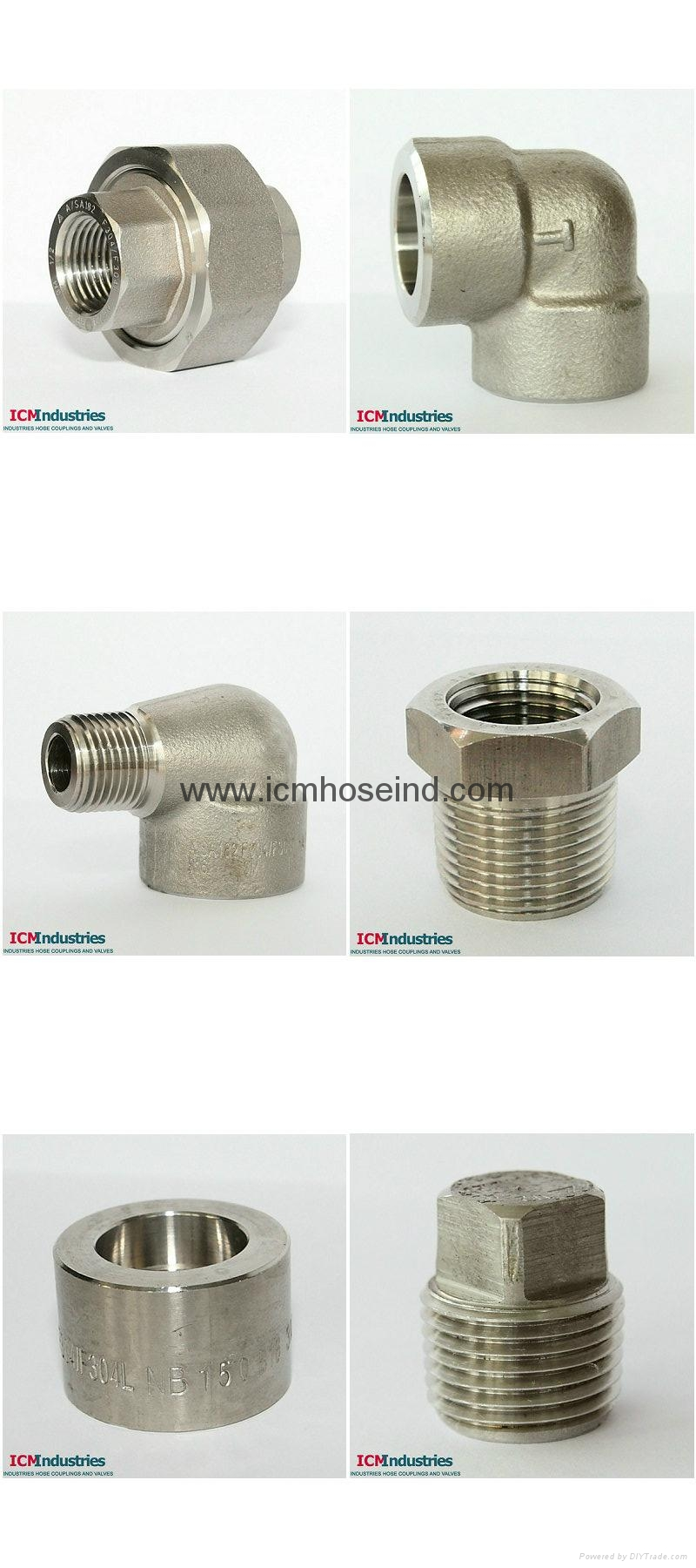 A105 Forged carbon steel pipe fittings 4