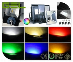 2.4Ghz RF or Mobile Phone Wifi Controlled Smart LED Flood Light RGB+W Color 20W