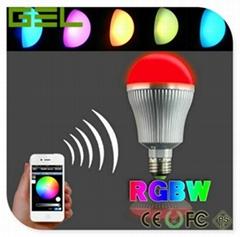 Intelligent Control LED Bulb Light E27 RGB RGBW Color 9W 4-Group Controlled