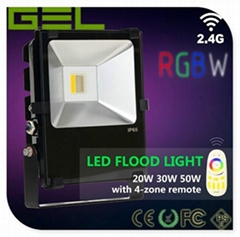 2.4GHZ Group Controlled RGB+WW/CW LED Flood Light 50W IP65 Outdoor Lighting Use (Hot Product - 1*)