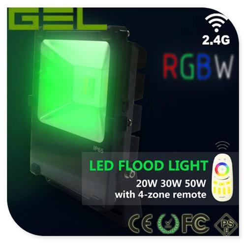 2.4G Remote Control LED Flood Light, RGBW LED Flood Light, WiFi LED Flood Lights 7