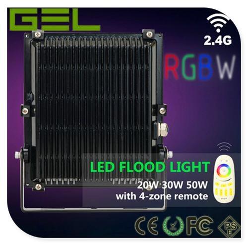 2.4G Remote Control LED Flood Light, RGBW LED Flood Light, WiFi LED Flood Lights 2