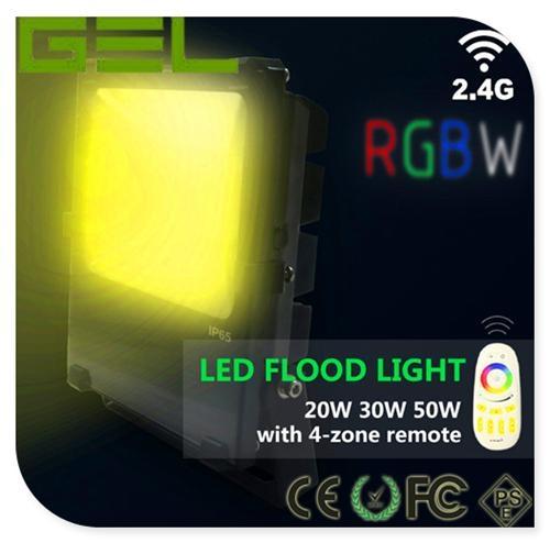 2.4G Remote Control LED Flood Light, RGBW LED Flood Light, WiFi LED Flood Lights 8