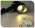 9W RGB+WW Multi-color Change 2.4G Wireless Controlled LED Garden Lawn Light IP65 2
