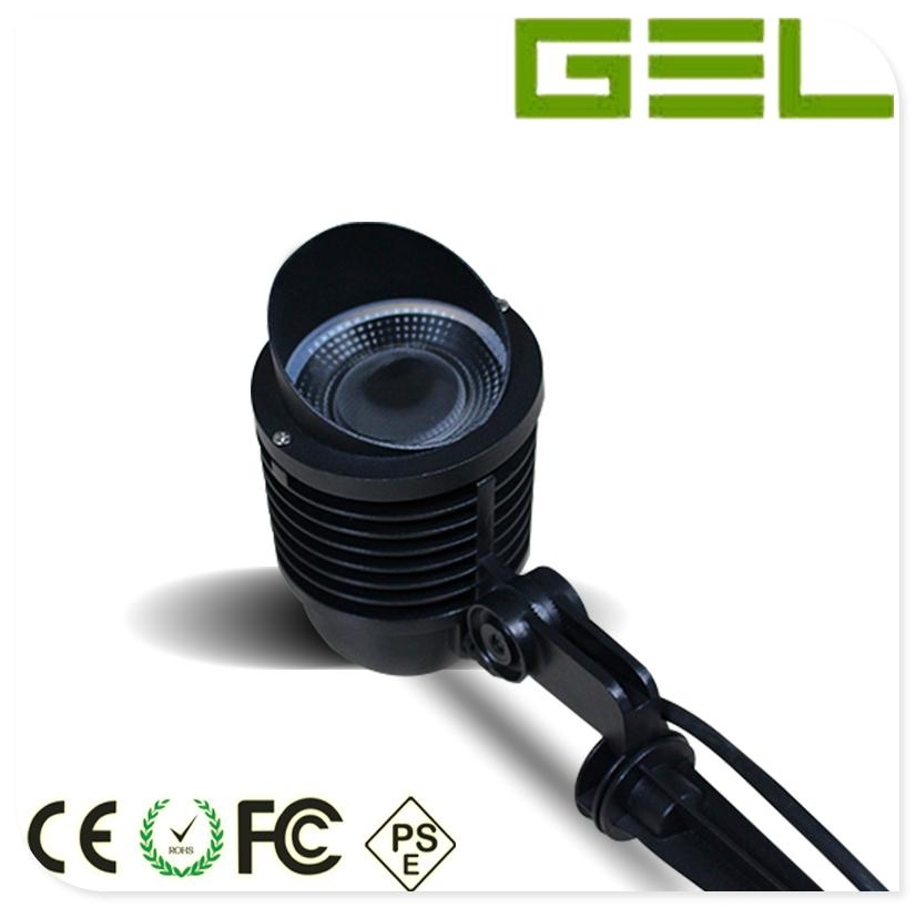 9W RGB+WW Multi-color Change 2.4G Wireless Controlled LED Garden Lawn Light IP65 4