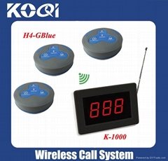 Restaurant pager Electronic waiter system K-1000+H4-GBlue
