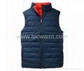 Reversible heated vest