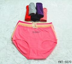 Middle Waist Women Panties Pure Color Cotton Underwear