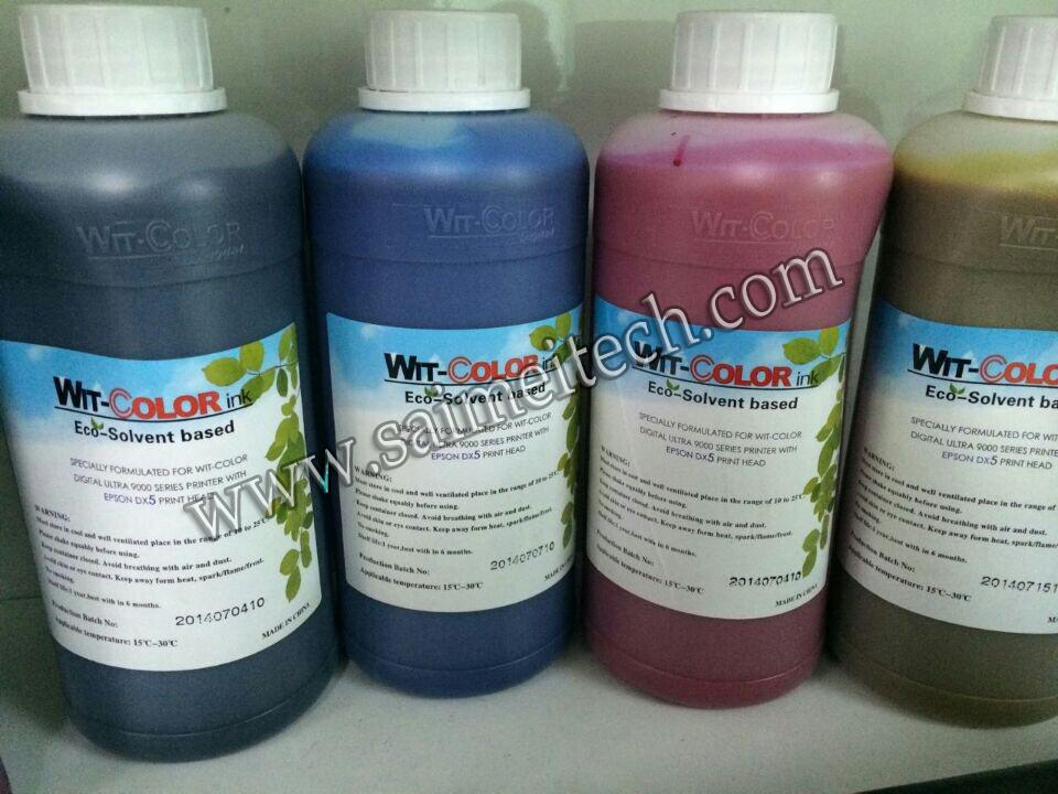 Wit-color ECO Solvent Ink for Epson dx5 printr heads 3