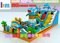 儿童充氣大滑梯新款海底世界款式造型