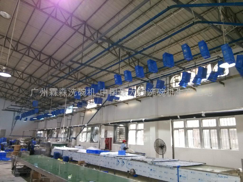 洗箱机吊装输送线  3