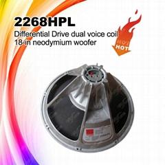 2268HPL 18 Inch Lf High Quality Neodymium Woofer