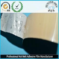PP bonding with hot melt adhesive film
