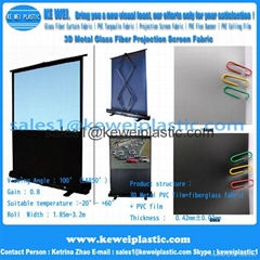 Excellent quality 3D Metal fiberglass projection screen fabric