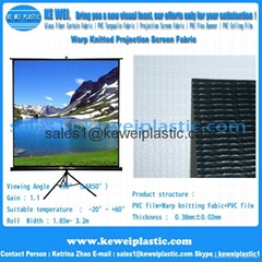 Matt White Warp Knitted Projection Screen Fabric