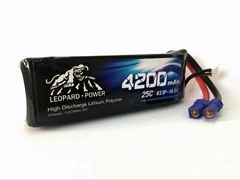 Leopard Power lipo battery for RC model, rc heli, rc aircraft  4200mah-4S-25C