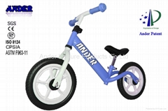 No pedal Pink color Steel children bicycle Kid balance bike Kid balance bicycle