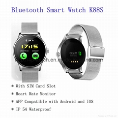 Bluetooth Smart Watch Phone with SIM Card Slot and Heart Rate Monitor(K88S)