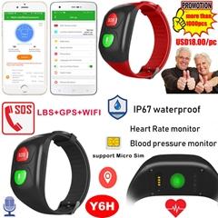 IP67 Waterproof Senior Healthcare GPS Bracelet Tracker with Blood Pressure