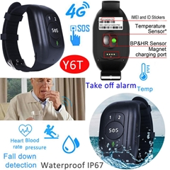 4G/LTE Waterproof Sos Smart GPS Tracking Device with Health Monitor