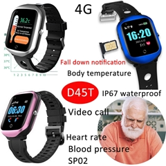 4G GPS Eldery GPS Tracker Smart Watch Phone with Body Temperature