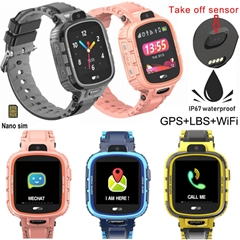 New Waterproof Children GPS Watch Locator with Removal Alarm