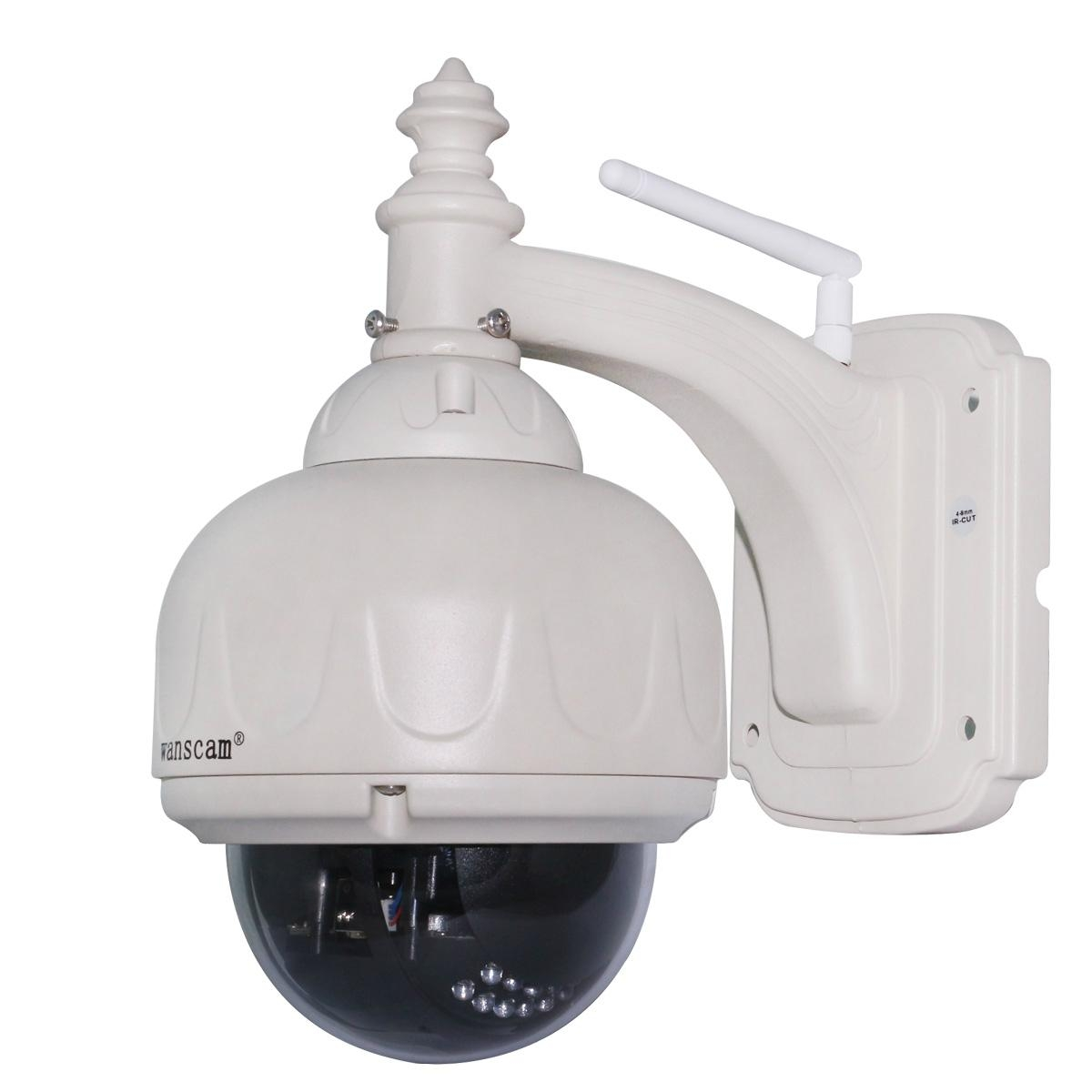 Home Surveillance 1MP HD PTZ Zoom Outdoor Dome H.264 Mobile View IP Camera - HW0028 - wanscam ...