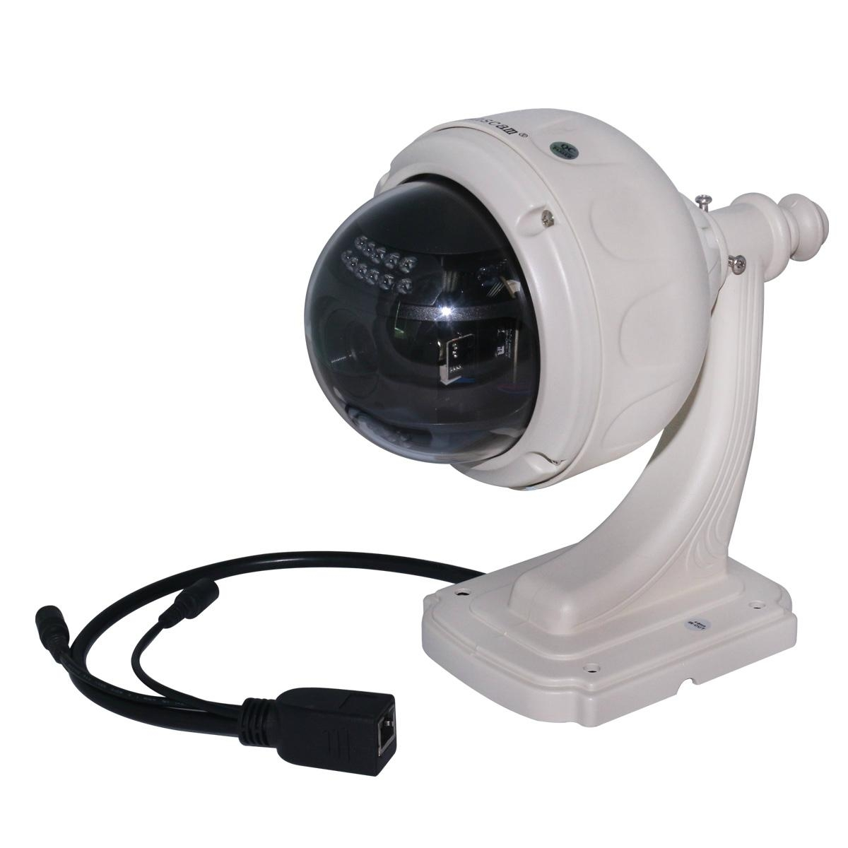 Home Surveillance 1MP HD PTZ Zoom Outdoor Dome H.264 Mobile View IP Camera 4