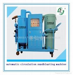 环保自动循环回收式喷砂机