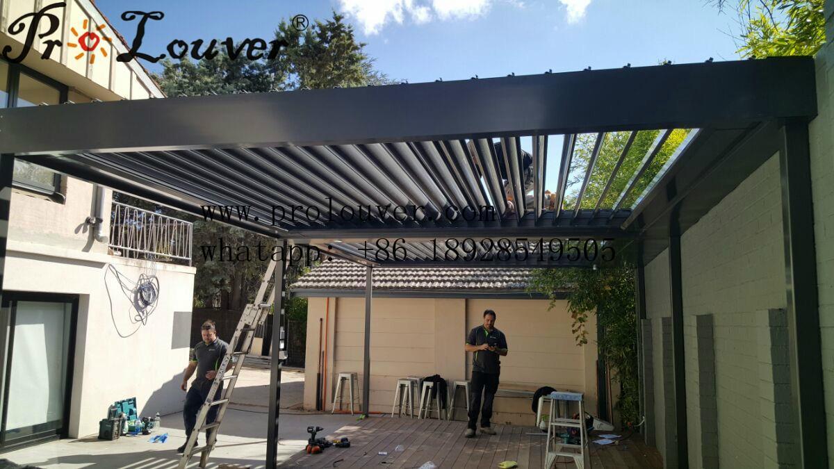 Pergola Opening Roof Louver With Rain Sensor Pergola