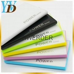 factory wholesale portable ultra-thin card 2200mAh power bank charger