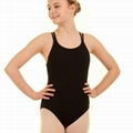 Child ballet leotard with double straps camisole 2